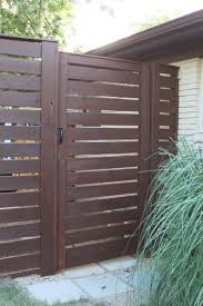 Wood Slat by Brilliant Horizontal Wood Slat Fence Plans For Home Safety In