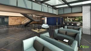modern concept office lobby interior design orange download 3d