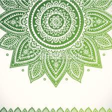 Indian Flower Design Beautiful Vintage Indian Floral Ornament Vector Art Thinkstock