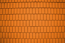 bright orange brick wall texture with vertical bricks picture