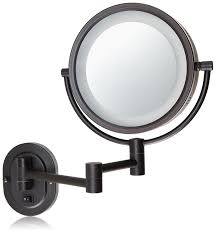 Light Up Makeup Mirror Amazon Com Jerdon Hl65bzd 8 Inch Lighted Direct Wire Wall Mount