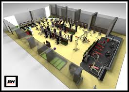 home gym floor plan templates
