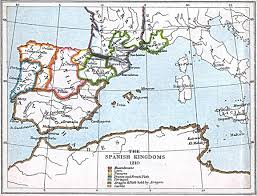 Spain Political Map by Maps Of The Spanish Kingdoms 1030 A D 1556 A D Perry