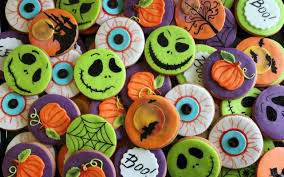 halloween cute background halloween cookies full hd wallpaper and background 2560x1600