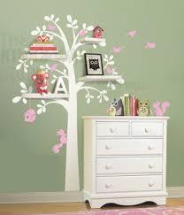Tree Decal For Nursery Wall by Woodland Shelf Tree Wall Decal Wall Sticker Leafy Dreams Nursery