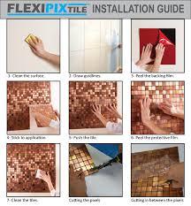 amazon com flexipixtile modern aluminum mosaic tile peel