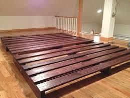bed frame wonderful low profile platform frame homesfeed