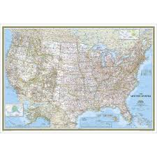 Unite States Map by United States Classic Wall Map Enlarged And Laminated National