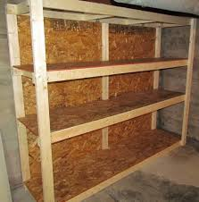 Plans For Building A Wood Storage Shed by How To Make A Basement Storage Shelf