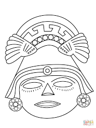 aztec mask coloring page free printable coloring pages