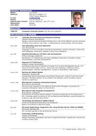 Resume Format For Freshers Of Computer Science Engineering