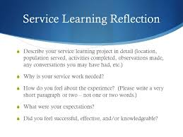 Service learning reflection essay rubric   report   web fc  com Service learning reflection essay rubric