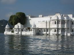 images about MY Grand Hotels on Pinterest   Plaza hotel     A close up view of the Taj Lake Palace  The exterior might be all