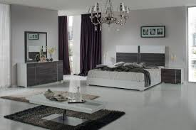 Contemporary Italian Bedroom Furniture Nova Domus Corrado Italian Modern White U0026 Grey Bedroom Set
