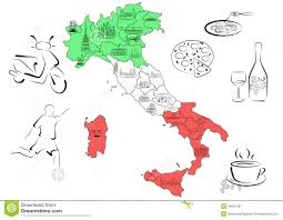 Map Of Italy Regions by Map Of Italy With Sights By Regions Stock Image Image 18431261