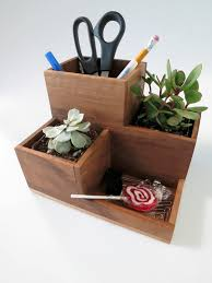 Desk Organization Accessories by Desktop Organizer And Succulent Planter Planters Woodworking