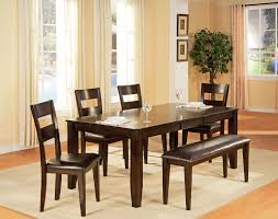 urban view table and 4 side chairs dark cherry levin furniture