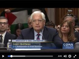 actions you can take to stop David Friedman     s confirmation