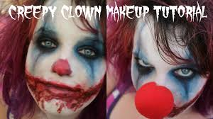 easy scary evil clown halloween makeup tutorial youtube