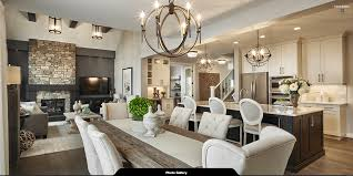 Interior Design Kitchen Living Room Kitchen Living Dining Room Calbridge Homes Cascade Custom Home