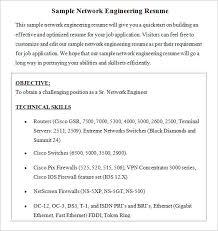 Exciting Network Engineer Resume Format Brefash Brefash