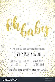 Baby Shower Invitation Cards Templates Oh Baby Baby Shower Invitation Card Stock Vector 450150256