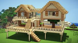 How To Build A Cottage House by Minecraft Survival House Tutorial How To Build A House In