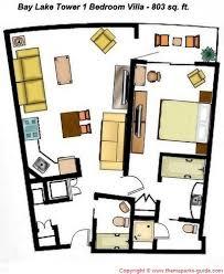 Disney Magic Floor Plan Bay Lake Tower At Disney U0027s Contemporary Resort 1 Bedroom Villa