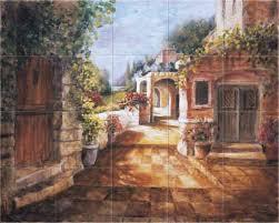 Kitchen Backsplash Mural Stone by Passage Into The Garden Kitchen Backsplash Tile Mural Accent Tile