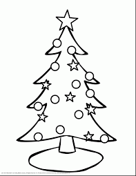 terrific christmas tree coloring pages to print with cute