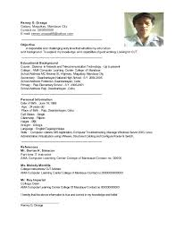 Sample Objectives In Resume For It by Remey Resume Sample