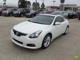 nissan altima coupe in snow 2012 winter frost white nissan altima 3 5 sr coupe 71852956