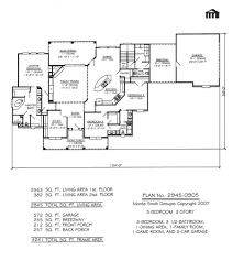 2 Floor House Plans With Photos by Plan No 2945 0905