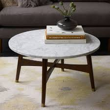 West Elm Outdoor by Reeve Mid Century Coffee Table Marble Walnut West Elm Au