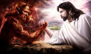 Jesus Vs Satan Arm Wrestling