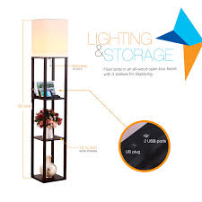 Mood Lighting Bedroom by Brightech Store Brightech U2013 Maxwell Usb Shelf Floor Lamp U2013 Mood