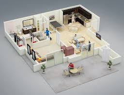 Interior Design Ideas For Open Floor Plan by 25 One Bedroom House Apartment Plans