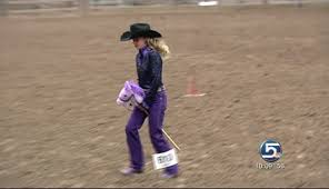 rodeo queens had to ride stick horses