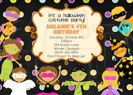 halloween characters clipart halloween costume kids party birthday invitation digital file