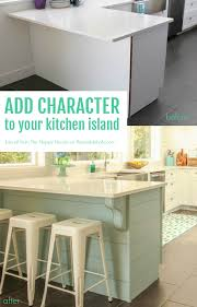 How To Install Kitchen Island by Remodelaholic Update A Plain Kitchen Island Or Peninsula With