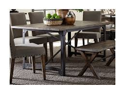 liberty furniture caldwell industrial trestle dining table with