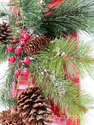 red shutter christmas door decoration crafts a la mode