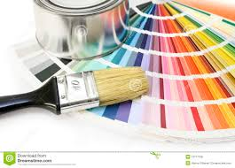 Color Swatches Paint by Paint Brush And Swatches Stock Photography Image 23218342