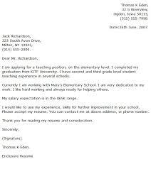 cover letter for teachers assistant   sample cover letters for teachers