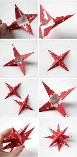 Christmas Decorations Diy by Diy 3d Paper Star Christmas Decorations Gathering Beauty