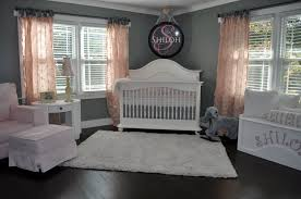 simple pink and gray nursery turned shared room for girls