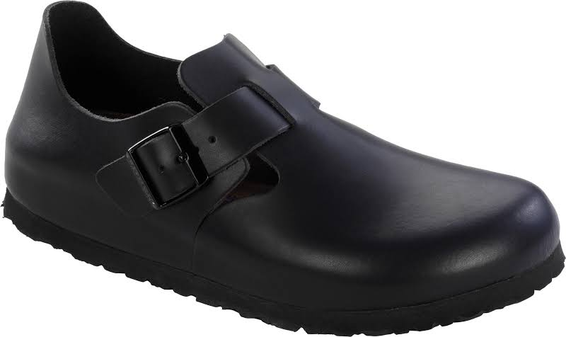 Birkenstock London Soft Footbed Leather Hunter Black 38 / regular