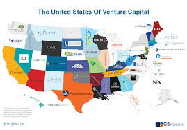 Usa States And Capitals Map by Vc Nation The Most Active Tech Venture Capital Firm Into Each Us