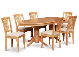7pc oval dinette kitchen dining room set table with 6 upholstery 7pc oval dinette kitchen dining room set table with 6 upholstery chairs in oak
