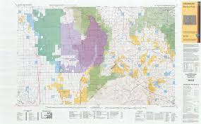 Colorado Unit Map by Co Surface Management Status Blanca Peak Map Bureau Of Land
